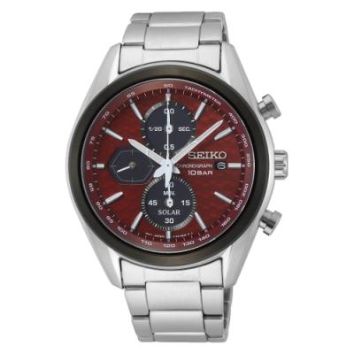 SEIKO 運動計時紅面太陽能腕錶V176-0BH0R(SSC771P1)