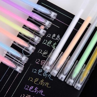 荷生活 第二代17色高光塗鴨瑩光筆閃光筆塗鴨筆-一套17色