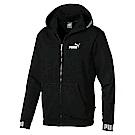 PUMA-男性基本系列Amplified連帽外套-黑色-亞規