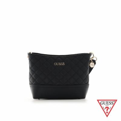 GUESS-女包-時尚氣質簡約菱格紋肩背包-黑 原價2890