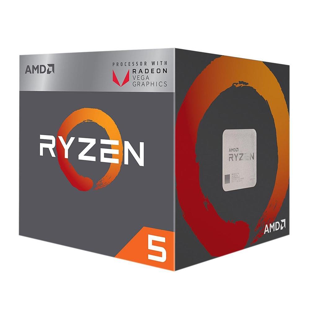 AMD Ryzen 5 2400G 3.6GHz 四核心中央處理器