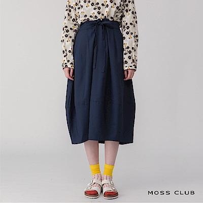 【MOSS CLUB】蝴蝶結綁帶休閒-長裙(共三色)