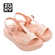 Zaxy ENERGY系列厚底造型涼鞋-粉膚 product thumbnail 1