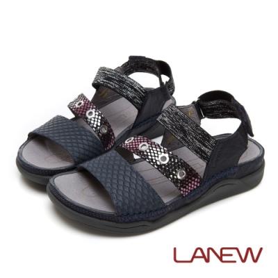 LA NEW Bio DCS 生物力學動能 鬆緊彈力帶 舒適涼鞋(女225060245)