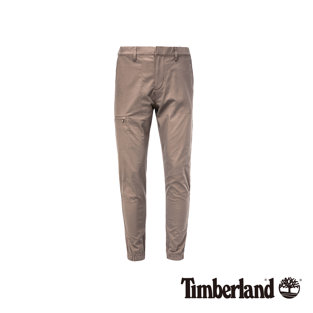 Timberland 男款卡其色修身錐形長褲