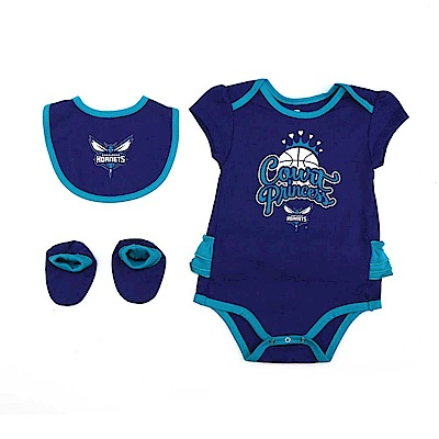 NBA 新生兒包屁衣組合 黃蜂隊 12-24M