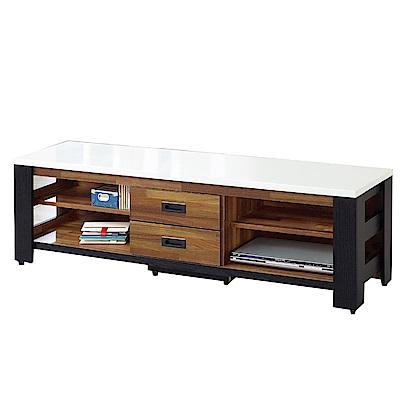 綠活居 凱沃時尚5尺雙色電視櫃/視聽櫃-150x40.5x47cm-免組