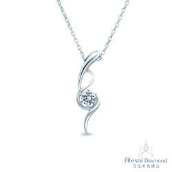 Alesai 艾尼希亞鑽石 30分 F-G成色 長式設計鑽石項鍊