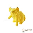 MANSTYLE 寫實生肖鼠 黃金擺飾-擺件 (約2錢)