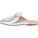 TOD'S Double T 金屬設計牛皮穆勒鞋(女鞋/銀色)
