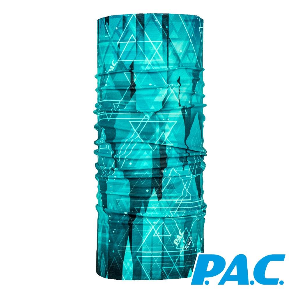 【PAC德國】透氣快乾抑臭抗菌頭巾PAC8908010藍黑水墨/登山/運動/路跑/單車配件