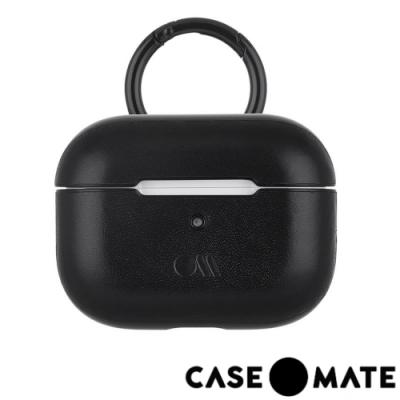 美國 CASE●MATE AirPods Pro 真皮皮革保護殼 - 黑色 贈掛環