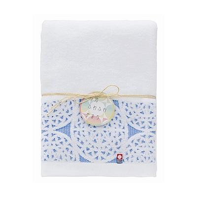 日本Prairiedog 今治無撚純綿浴巾-藍
