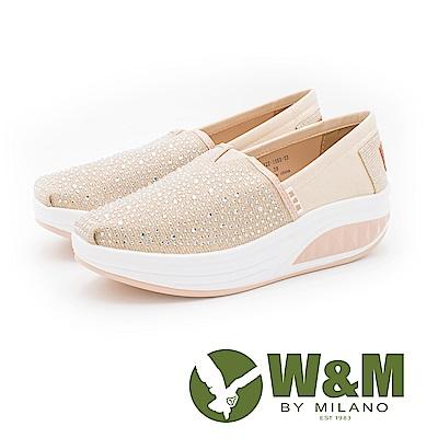 W&M BOUNCE系列 厚底增高鞋 女鞋-亮鑽金粉(另有亮鑽黑)
