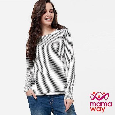 mamaway 基本橫紋哺乳上衣(共兩色)