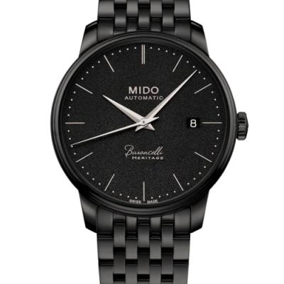 MIDO BARONCELLI HERITAGE 永恆系列超薄復刻機械錶-黑/39mm