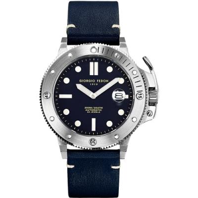 GIORGIO FEDON 1919 海藍寶石系列機械錶(GFCL004)-藍色