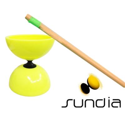 三鈴SUNDIA-台灣製造FLY長軸培鈴扯鈴(附木棍、扯鈴專用繩)黃色