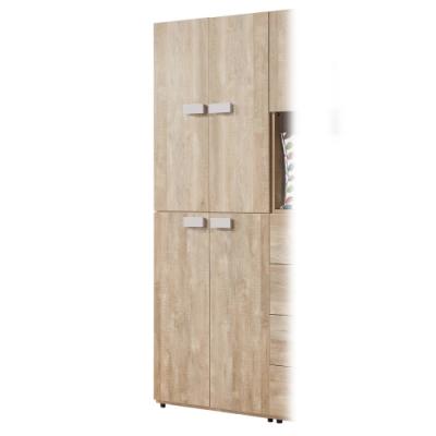 漢妮Hampton巴特萊2.5尺四門衣櫥-75x59x202cm