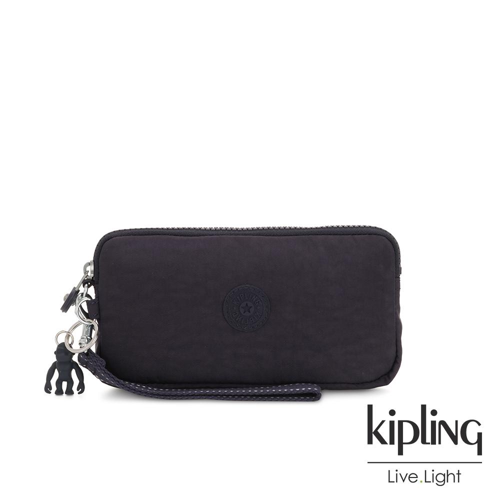 Kipling 黑醋栗紫手拿包-LOWIE