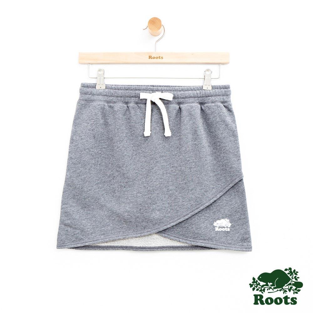 女裝Roots 層次設計短裙-灰