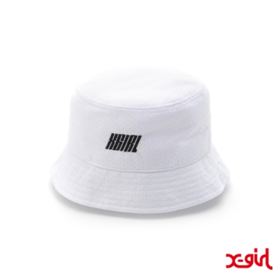 X-girl MESH BUCKET HAT漁夫帽-白