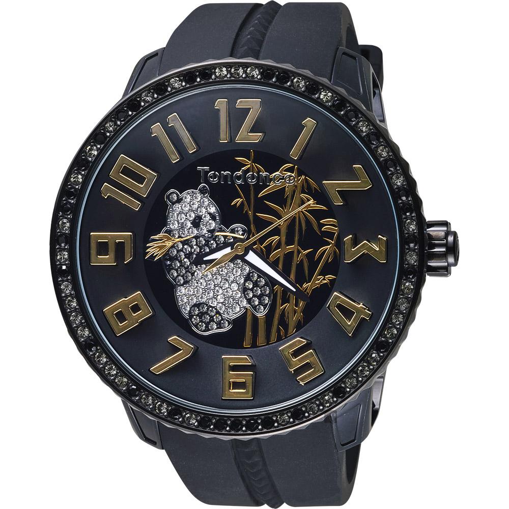 Tendence 天勢 Panda 限量版熊貓手錶-黑/52mm TY430402