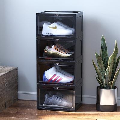 [時時樂限定] Mr.box  磁吸式超透明壓克力門板防塵鞋盒 4入組 (兩色可選)