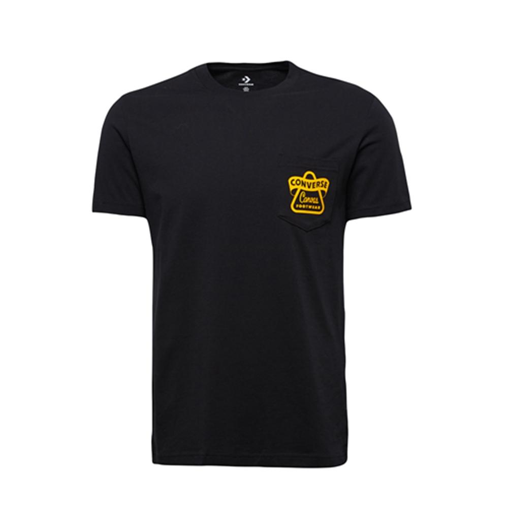 CONVERSE-男短袖上衣-黑-10008139-A01