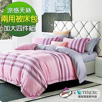 Ania Casa 容嬌 涼感天絲 採用3M吸溼排汗專利 加大鋪棉兩用被床包組