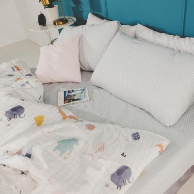 絲薇諾 MIT精梳純棉 琉璃藍 雙人加大6尺三件式-床包枕套組