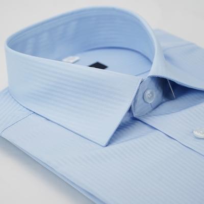 【金安德森】藍色吸排窄版長袖襯衫fast