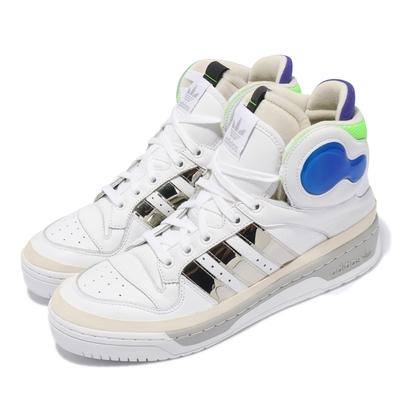 adidas 休閒鞋 Rivalry Hi Sankz 男鞋 海外限定 愛迪達 高筒 球鞋 穿搭 白 銀 FU8407