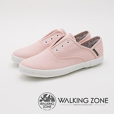 WALKING ZONE 帆布系列 防潑水果漾休閒 女鞋-甜心粉
