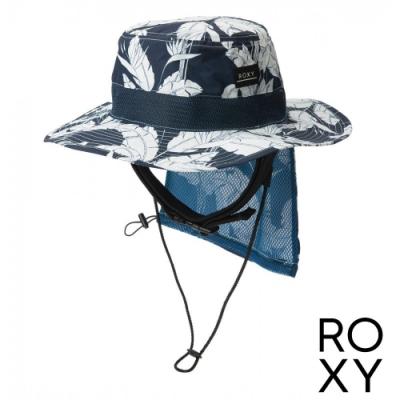 【ROXY】UV WATER CAMP HAT PRT 抗UV戶外運動帽 海軍藍