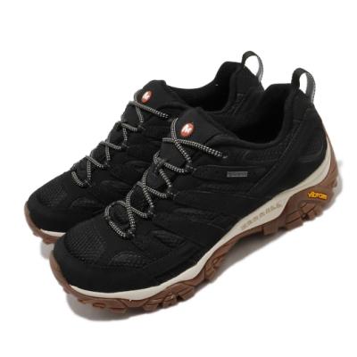 Merrell 戶外鞋 Moab 2 GTX 低筒 男鞋 登山 越野 耐磨 黃金大底 防潑水 黑 棕 ML035485