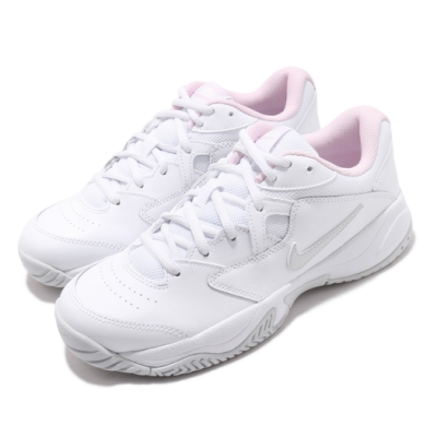 Nike 網球鞋 Court Lite 2 運動 女鞋 經典款 舒適 避震 包覆 皮革 支撐 白 粉 AR8838104
