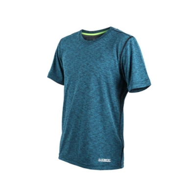 FIRESTAR 男吸濕排汗圓領短袖T恤-慢跑 路跑 深藍灰