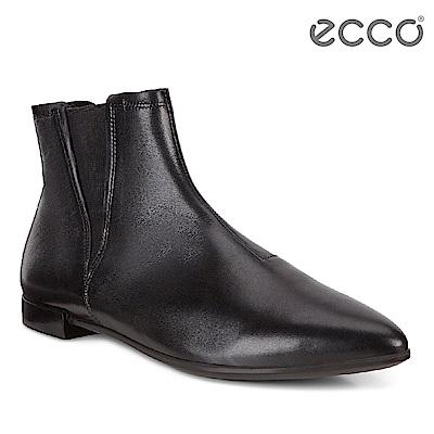 ECCO SHAPE POINTY 經典英式切爾西平底短靴 女-黑