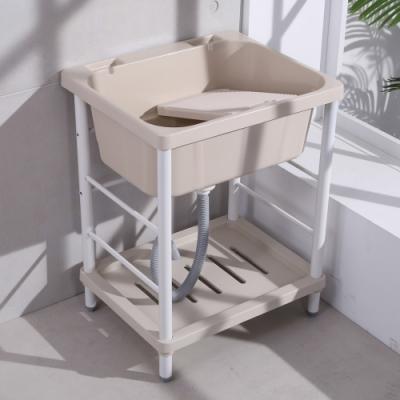 【LOGIS】輕巧ABS塑鋼洗衣槽 64x56x83cm 洗手槽 洗手台