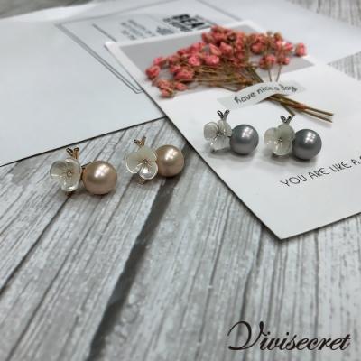 VIVI SECRET 高雅花朵珍珠耳環-金銀套裝組(金x2 銀x2共4入)