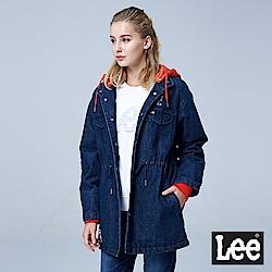 Lee 連帽可拆式牛仔外套/RG-中藍色