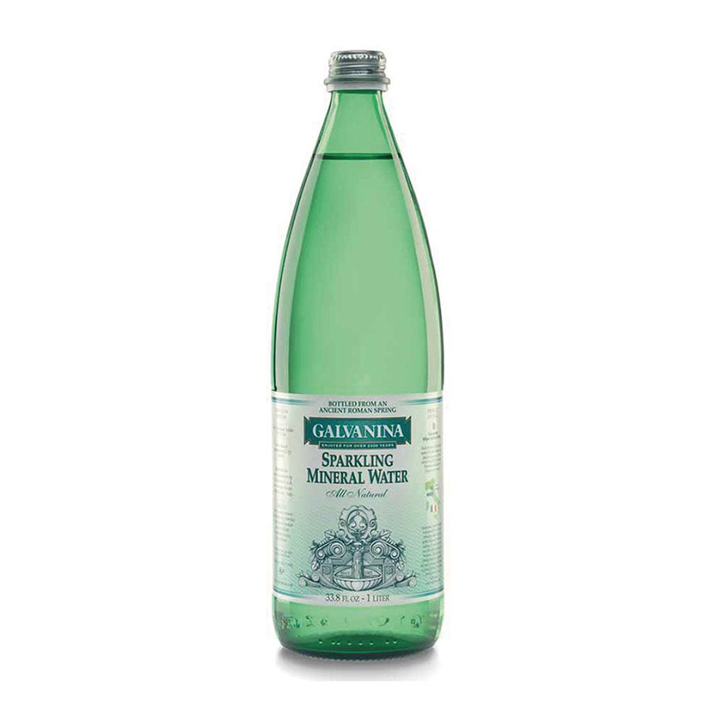 義大利Galvanina羅馬之源 天然氣泡礦泉水(1000mlx12入)