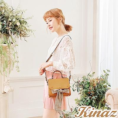 KINAZ 皇后學院兩用斜背包-優雅芥黃-安妮系列