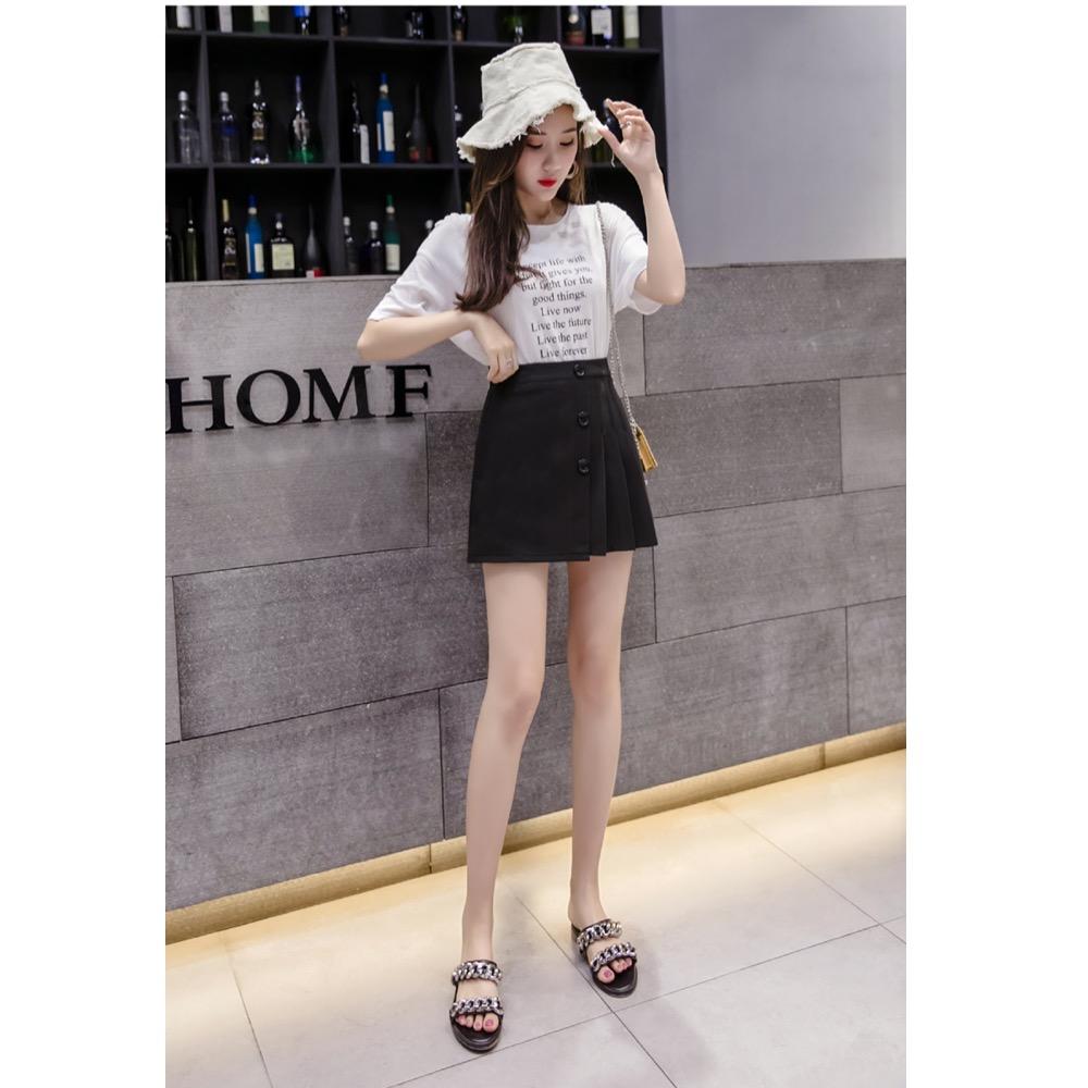 IMStyle 春夏簡約百褶裙(黑色、白色) @ Y!購物