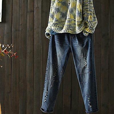 寬鬆牛仔背帶褲連身初戀寬管褲/設計所在/K1812