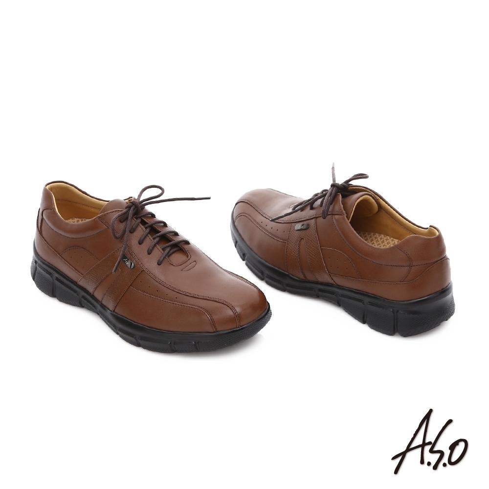 A.S.O-型男精選全真皮氣墊休閒鞋(5款任選) product image 1