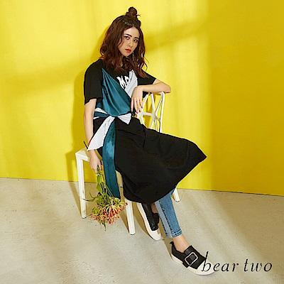beartwo 異素材花式綁帶洋裝(二色)
