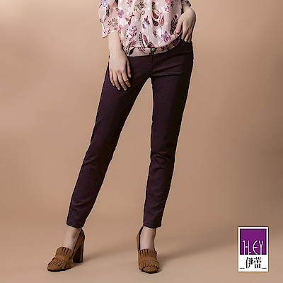 ILEY伊蕾 -5kg彈性羅馬褲(紫)