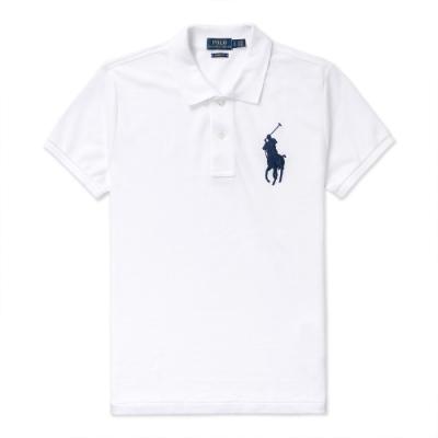 Polo Ralph Lauren 年度熱銷刺繡大馬短袖POLO衫(SKINNY FIT)(女)-白色